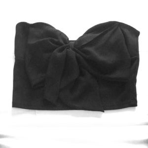 Charlotte Russe bow front crop top